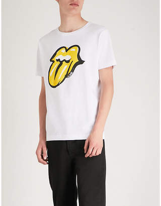 THE ROLLING STONES Logo-print cotton-jersey T-shirt