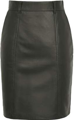 626029f9e4d83b Leather Look Panel Pencil Skirt - ShopStyle UK