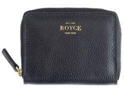 Zip Leather Credit Card Case