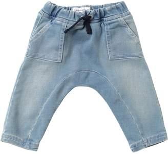 Emporio Armani Denim Effect Cotton Sweatpants