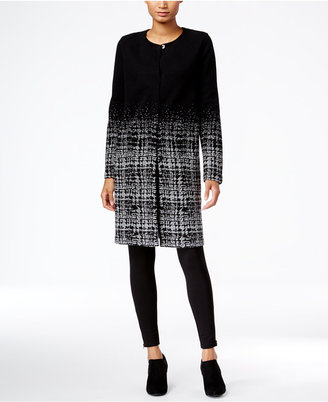 Style & Co. Plaid-Gradient Duster Cardigan, Only at Macy's $79.50 thestylecure.com