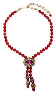 Heidi Daus Oval Rhinestone Dangle Necklace