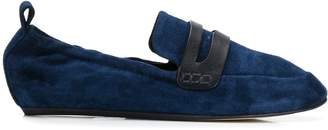 Lanvin suede loafers