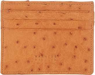 Barneys New York Men's Ostrich Card Case