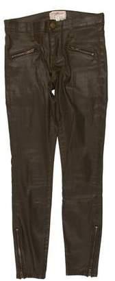 Current/Elliott The Soho Zip Stiletto Mid-Rise Jeans