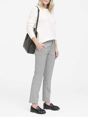 Banana Republic Petite Ryan Slim Straight-Fit Washable Houndstooth Pant
