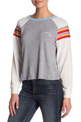 Vintage Havana Rainbow Stripe Raglan Long Sleeve
