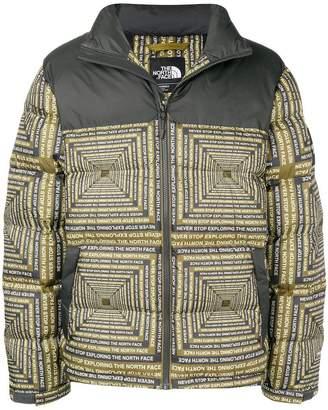 The North Face slogan padded jacket