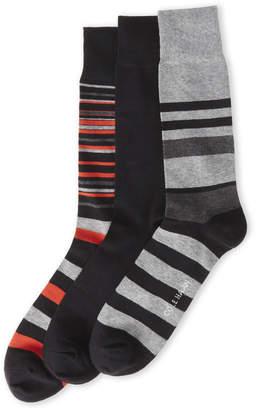 Cole Haan 3-Pack Contrast Stripe Socks