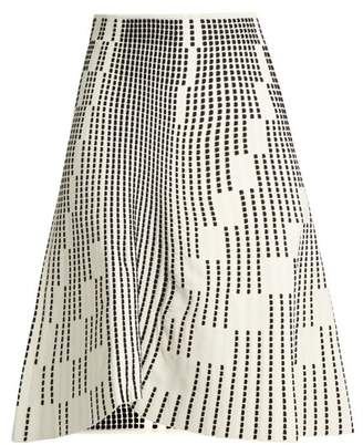 Roland Mouret Wilson Textured Knit Skirt - Womens - White Black