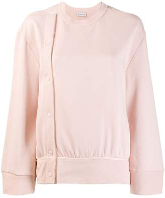 Moncler button detail sweatshirt