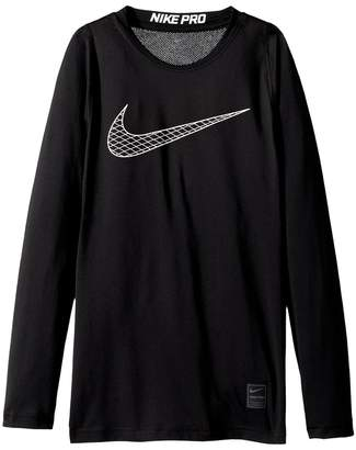 Nike Pro Fitted Long Sleeve Training Top Boy's Clothing