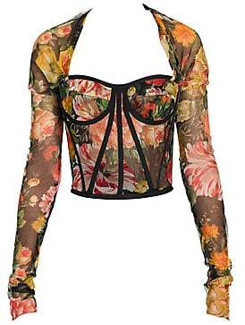 Dolce & Gabbana Dolce& Gabbana Dolce& Gabbana Women's Floral Long Sleeve Bustier