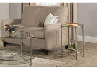 Hillsdale Furniture Corbin End Table with Top Glass Shelf