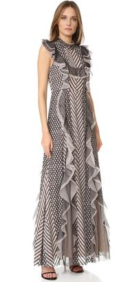 BCBGMAXAZRIA Ruffle Gown $698 thestylecure.com