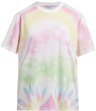 Stella McCartney Tie Dye Cotton T Shirt - Womens - White Multi