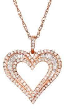 Lord & Taylor 0.5 TCW Diamond, 14K Rose Gold Pendant and Chain