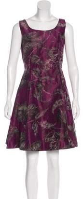 Oscar de la Renta Silk Sleeveless Mini Dress