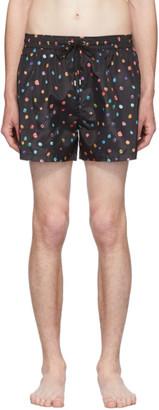 Paul Smith SSENSE Exclusive Black Polka Dot Swim Shorts