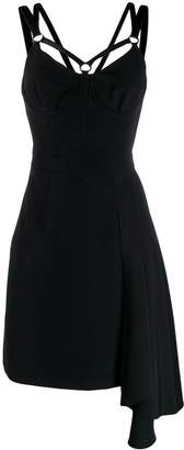 Versace asymmetric flare dress