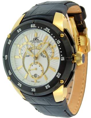 Adee Kaye Men's AK6003-MG-WHTBLK Swiss Quartz Chronograph