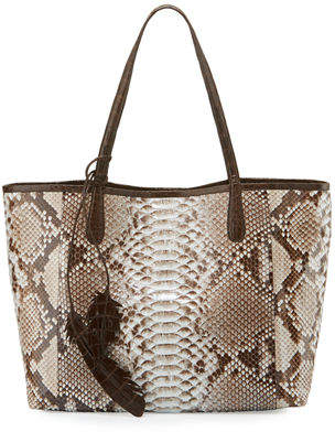 Nancy Gonzalez Erica Python Shopper Tote Bag