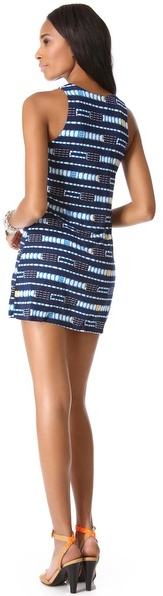 T-Bags Tbags Los Angeles Scoop Neck Mini Dress