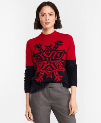 Brooks Brothers Color-block Wool-Blend Sweater
