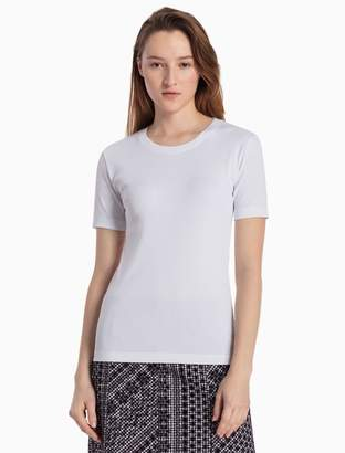Calvin Klein cotton stretch knit short sleeve top