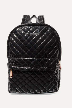 MZ Wallace Metro Leather-trimmed Quilted Vinyl Backpack - Black