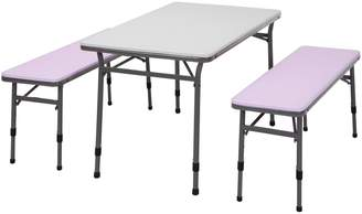 Cosco Kids Adjustable Table & Bench 3-piece Set