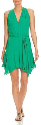 Halston Georgette Flounce Dress