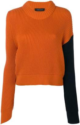 Cédric Charlier ribbed cropped jumper