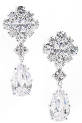 Women's Nina Cluster Drop Earrings $95 thestylecure.com