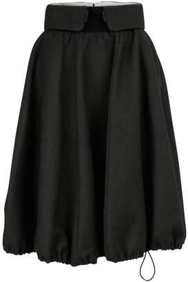 Nina Ricci New wool and cashmere blend gabardine skirt