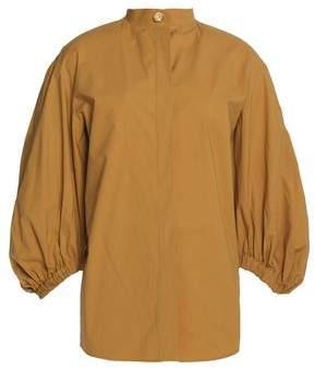 Sonia Rykiel Gathered Stretch-Cotton Poplin Shirt