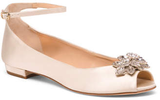 Made In Spain Embellished Ankle Strap Flats