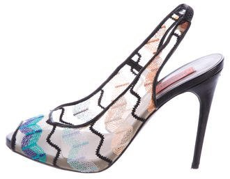 Missoni Embroidered Mesh Pumps