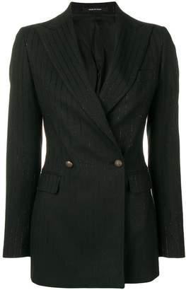 Tagliatore metallic pinstripe blazer