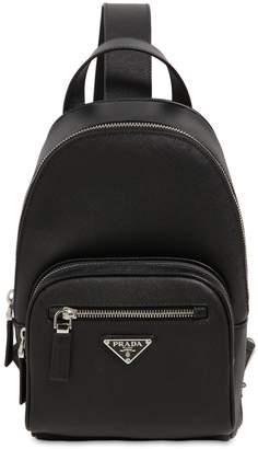 55c2395139e Prada Mono Strap Saffiano Leather Backpack