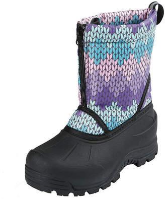 Northside Little Kid/Big Kid Girls Icicle Waterproof Fleece Lined Insulated Snow Boots Zip