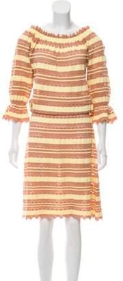 Blumarine Midi Dress Yellow Midi Dress