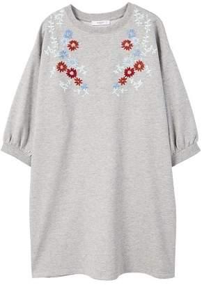 MANGO Cottoned sweatshirt dress