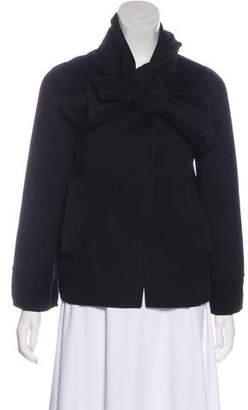 Oscar de la Renta Wool-Blend Snap Jacket