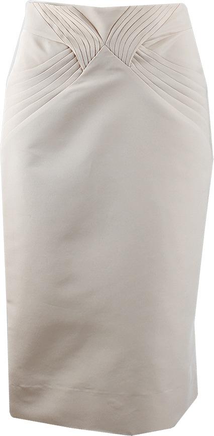 Zac Posen High Waist Pleat Skirt