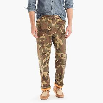 Wallace & Barnes fleece-lined military camp pant