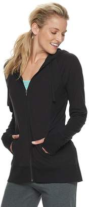 Tek Gear Women's Thumb Hole Zip-Up Jacket