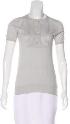 Lela Rose Short Sleeve Knit Top