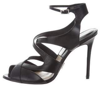 Michael Kors Multistrap Leather Sandals