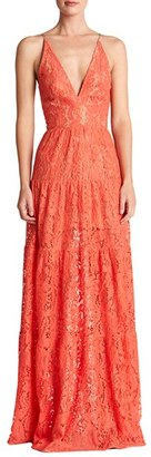 Women's Dress The Population Melina Lace Fit & Flare Maxi Dress $238 thestylecure.com